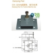 Absorber, damping pad for traction machine